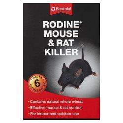 Rentokil Rodine Mouse & Rat Killer Sachets & Bait Trays 6 x 50g