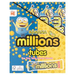 Millions Banana The Tiny Tasty Chewy Sweets Tubes 18 x 40g