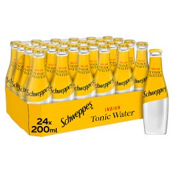 Schweppes Tonic Water Glass Bottle