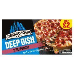 Chicago Town 2 Deep Dish Pepperoni Pizza PM £2