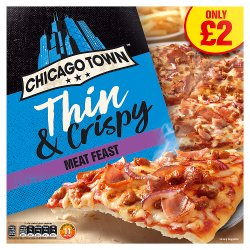 Chicago Town The Thin One Meat Feast Pizza 325g (PMP)