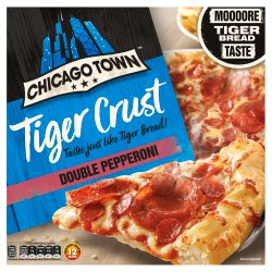Chicago Town Tiger Crust Double Pepperoni Pizza 320g
