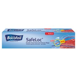 Bacofoil Double-Seal SafeLoc Food and Freezer Bags - 15 Medium