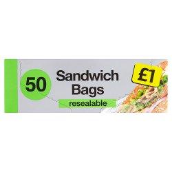 Sandwich Bags 50 Resealable