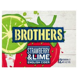 Brothers Strawberry & Lime English Cider 12 x 500ml