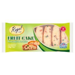 Regal Bakery Fruit Cake Slices with Glazed Fruit Pieces 210g