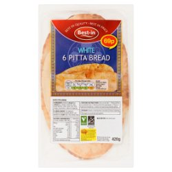 Best-in 6 White Pitta Bread 420g