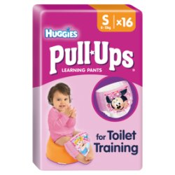 Huggies® Pull-Ups® Day Time Girls Size S (8-15kg, 18-33lbs) 16 Pants