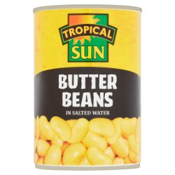 Tropical Sun Butter Beans in Salted Water 400g