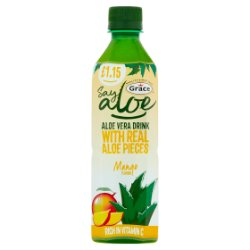 Grace Say Aloe Vera Drink Mango Flavour £1.15 PMP 500ml