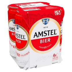 Amstel Lager Beer 4 x 440ml Can