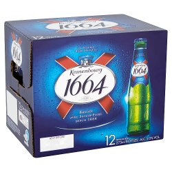 Kronenbourg 1664 Lager Beer Bottle 12 x 275ml