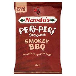 Nando's Peri-Peri Smokey BBQ Groove Cut Potato Chips 40g