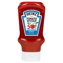 Heinz 50% Less Sugar & Salt Tomato Ketchup 435g