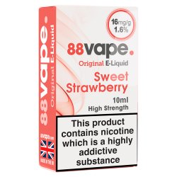 88Vape E-Liquid 16mg Sweet Strawberry 10ml