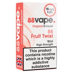 88Vape E-Liquid 16mg Fruit Twist 10ml
