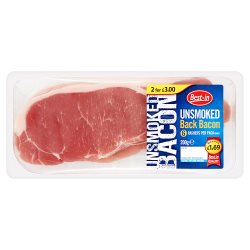 Bestin Unsmoked Back Bacon PM GBP1.69 Or 2 For GBP3