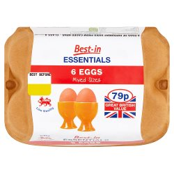 Best-in Essentials 6 Eggs Mixed Sizes