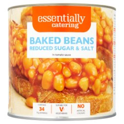 Essentially Catering Baked Beans Reduced Sugar & Salt in Tomato Sauce 2.62kg