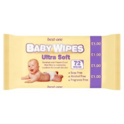 Best-One 72 Baby Wipes Ultra Soft