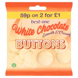 Best-One White Chocolate Buttons 70g