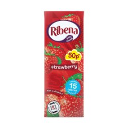 Ribena Strawberry Carton PM 50p