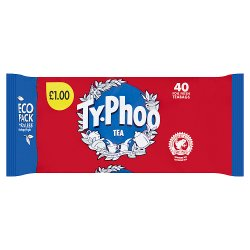 Typhoo 40 Foil Fresh Teabags 116g