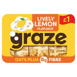 Graze Lively Lemon Fibre Flapjack 53g