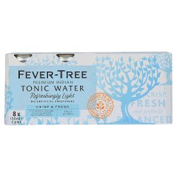 Fever-Tree Refreshingly Light Tonic Water 8 x 150ml