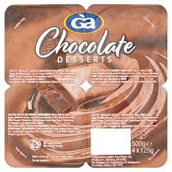 Golden Acre Chocolate Dessert 4 x 125g (500g)
