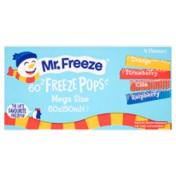 Mr. Freeze Freeze Pops Mega Size 60 x 150ml