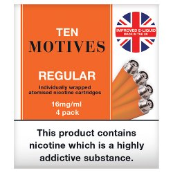 Ten Motives Regular Refills 16mg/ml 4 Pack