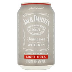 Jack Daniel's & Light Cola 330ml Can