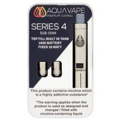 Aqua Vape Series 4 Starter Kit (Sub Ohm) Silver