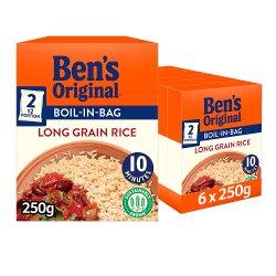Bens Original Boil In Bag Long Grain Rice 8 x 62.5g