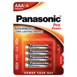 Panasonic Pro Power AAA 1.5V Alkaline Batteries x 4