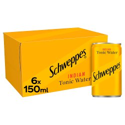 Schweppes Tonic Water 6 x 150ml
