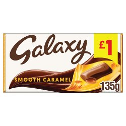 Galaxy Caramel Chocolate Price Marked Block 135g