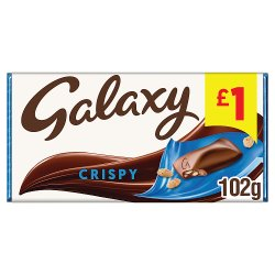 Galaxy Crispy Chocolate Price Marked Block 102g