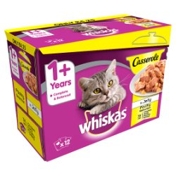 Whiskas 1+ Casserole Poultry Selection 12pk