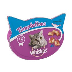 Whiskas Temptations Adult 1+ Cat Treats with Salmon 60g