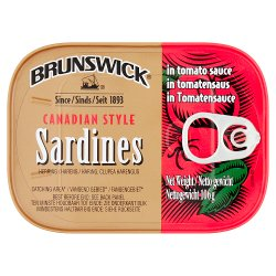Brunswick Canadian Style Sardines in Tomato Sauce 106g