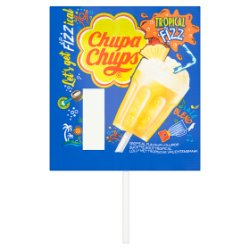 Chupa Chups Tropical Fizz Flavour Lollipop 15g