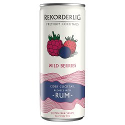 Rekorderlig Premium Swedish Cocktails Wild Berries Cider with Rum 250ml