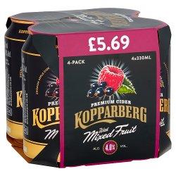 Kopparberg Premium Cider with Mixed Fruit 4 x 330ml