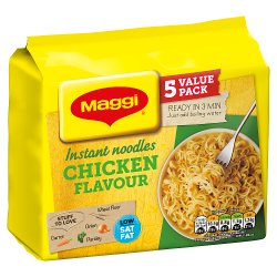 MAGGI 3 Minute Instant Chicken Flavour Noodles 5 x 59g
