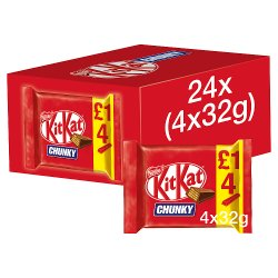 Kit Kat Chunky Milk Chocolate Bar 32g 4 Pack £1