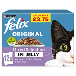 Felix Cat Food Mixed Selection in Jelly 12 x 100g