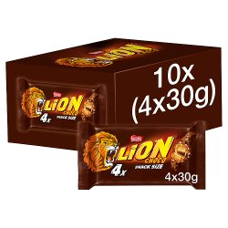 Lion Milk Chocolate Bar Multipack 30g 4 Pack