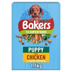 Bakers Puppy Dry Dog Food Chicken and Veg 1.1kg
